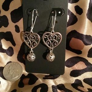 Etched Heart Earrings